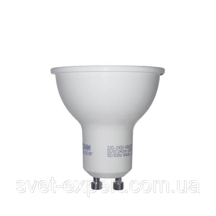 Лампа OSRAM STАR PAR16 35  120° 3W/840 GU10 светодиодная