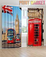 Фото шторы Биг Бен и автобусы