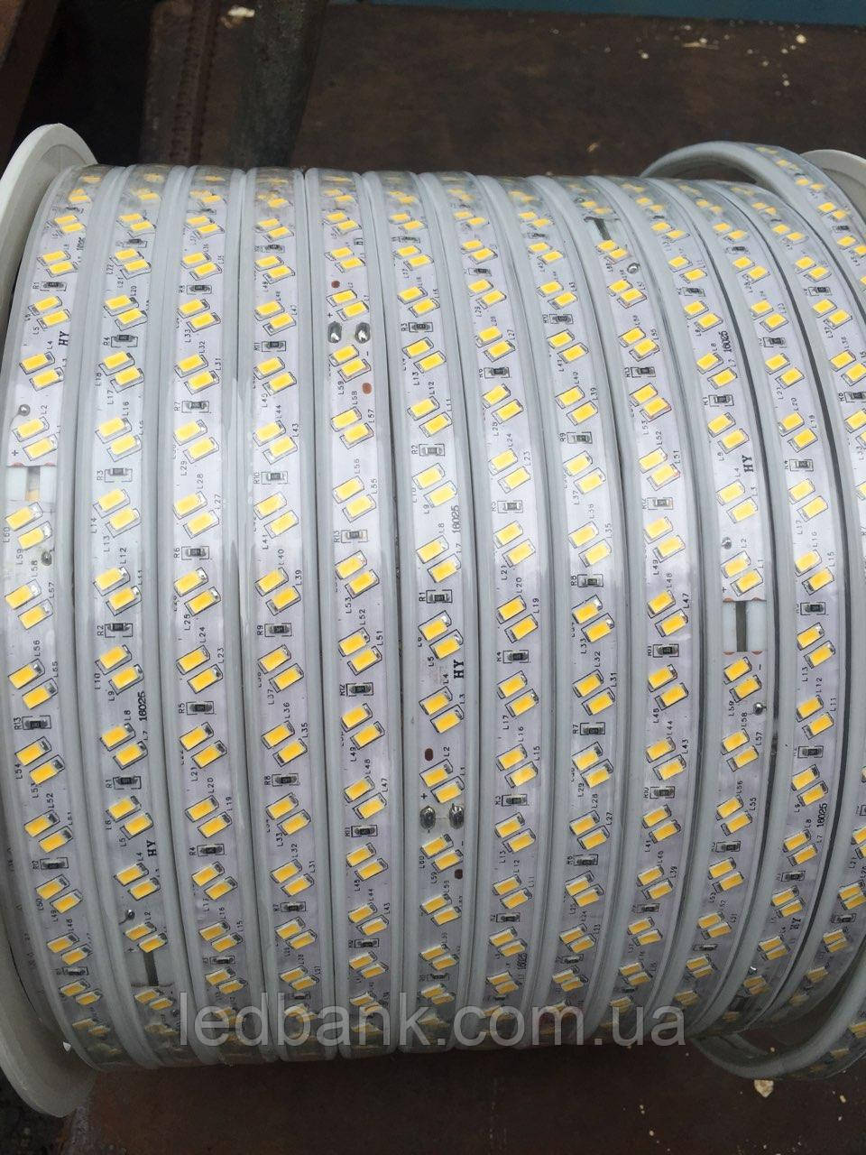 Светодиодная лента 220В SMD5730 120LED IP68 White СУПЕР ЯРКАЯ !!!