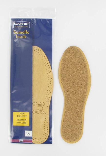 Стельки из Кожи и Корка Saphir Leather and Cork Insoles 202
