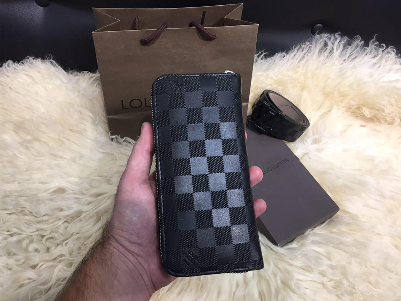 f755583fb6c0 Кошелек Louis Vuitton Zippy Vertical Damier Infini реплика: продажа ...