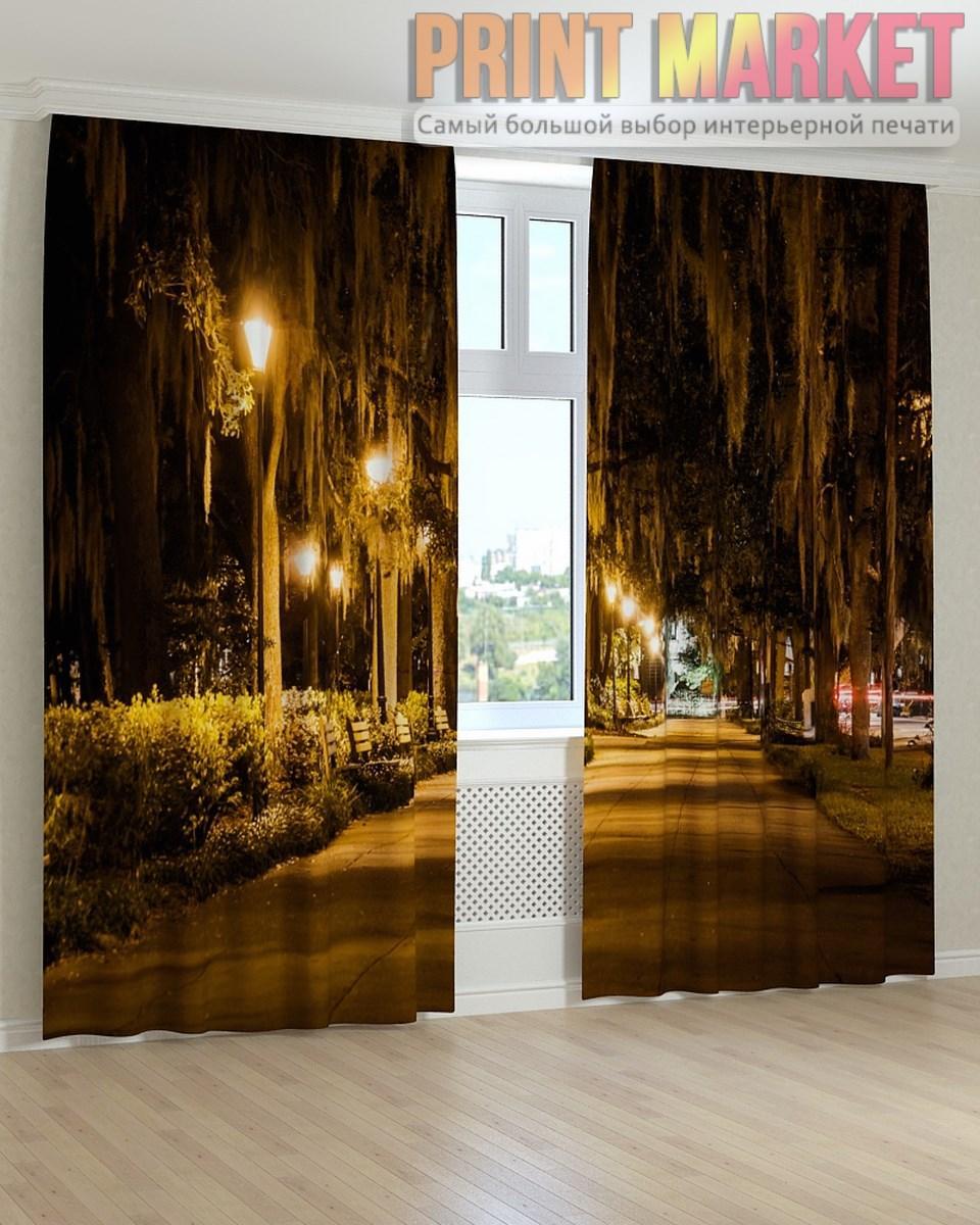 Фото шторы фонари на аллее