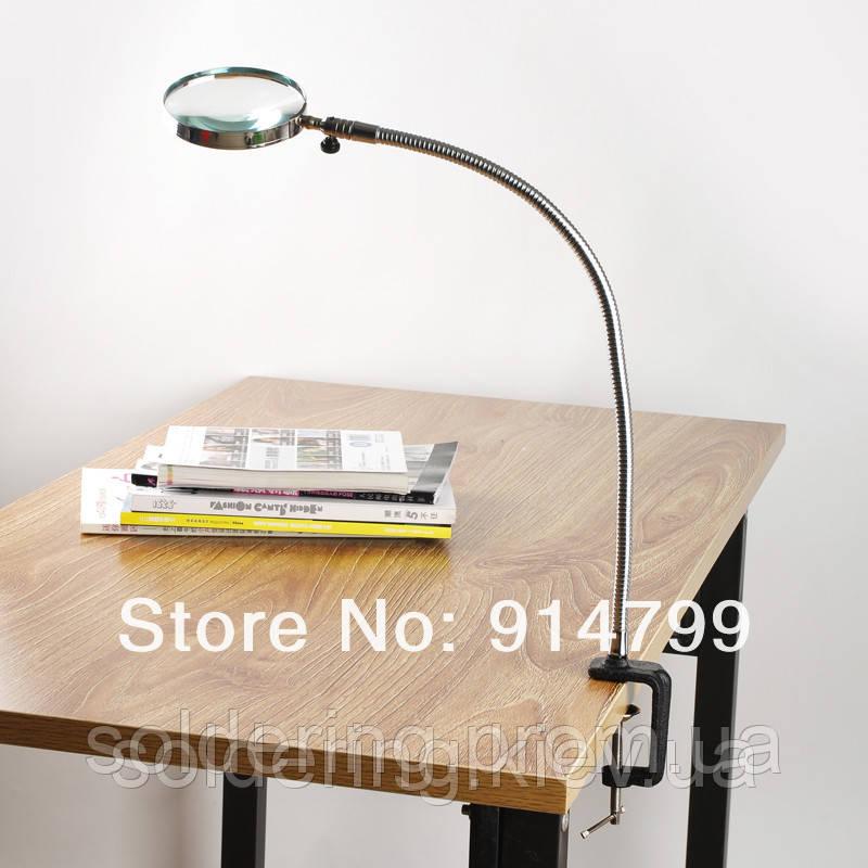 Настольная лупа со струбциной, увеличение 3X, диаметр 90 мм Magnifier 10085