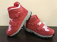 Зимние кроссовки на липучке для девочек