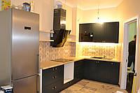 Угловая серая кухня в стиле Лофт, фото 1