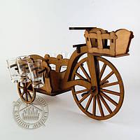 """Рюмочный набор """"Велосипед с тележкой"""""""