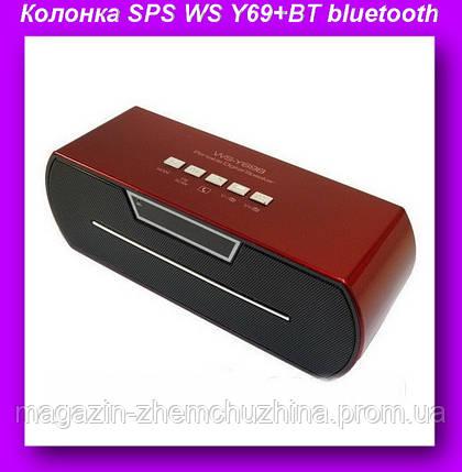Моб.Колонка SPS WS Y69+BT bluetooth,Портативная mp3 колонка,мобильная колонка, фото 2