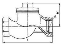 Клапан обратный подъемный муфтовый 16кч11р Ду20 Ру16