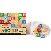 Деревянная азбука - цифры на кубиках, MD1900, Melissa&Doug