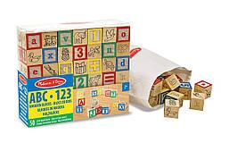 Дерев'яна азбука і цифри на кубиках Melіssa&Doug (MD1900)