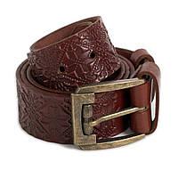 Мужской кожаный ремень R1-02 (коричневый)