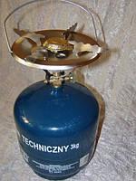 Газовый баллон с горелкой ВТ-3 Польша (7,2л) +чугунная гриль пластина