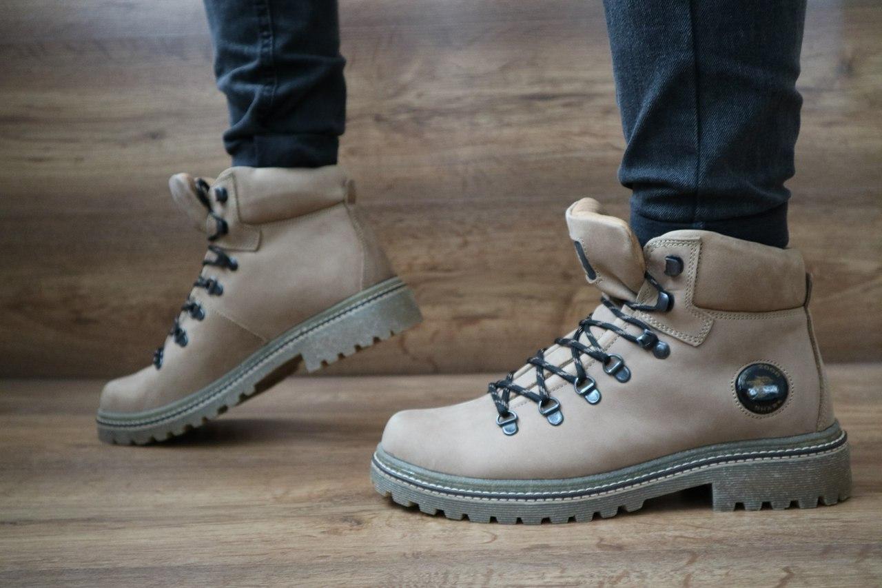 Мужские зимние ботинки Shark (оливка), ТОП-реплика