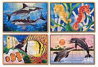 Морская жизнь - набор из 4 пазлов, MD3795, Melissa&Doug