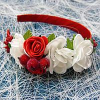 Обруч Ніжні троянди (червоний)
