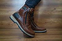 Мужские зимние ботинки Zangak Exclusive (коричневый), ТОП-реплика, фото 1