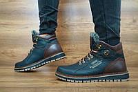 Мужские зимние ботинки Zangak (черный\коричневый), ТОП-реплика, фото 1