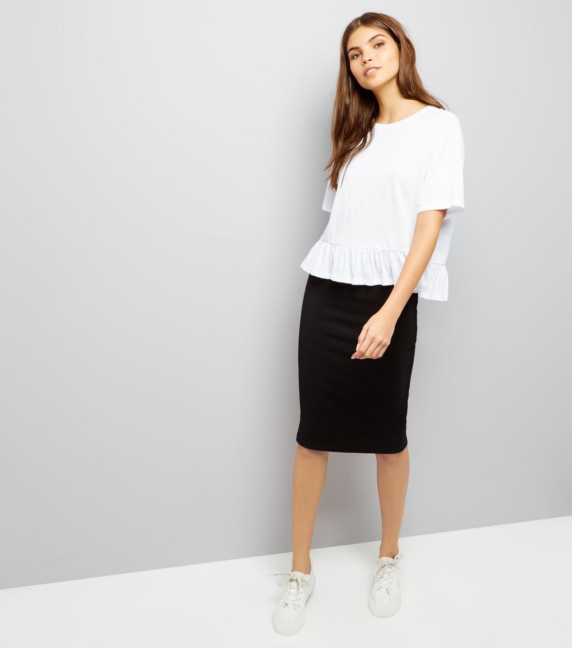 Новая юбка-карандаш в рубчик Boohoo