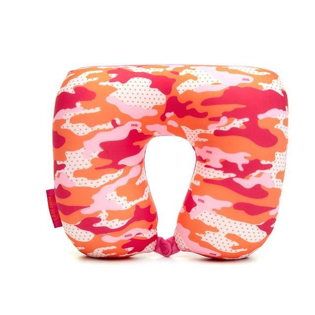 Дорожня подушка мілітарі рожева