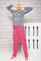 Женская молодежная хлопковая пижама ODA 1193 Taro S-XL