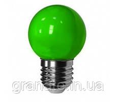 Лампа светодиодная для гирлянд Белт Лайт LED 1W 230V E27 зелёный