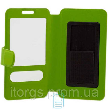 Чехол-книжка слайдер-липучка 4 дюйма, размер S 121x63мм салатовый, фото 2