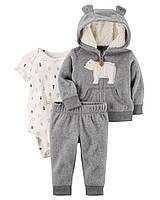 """Флисовый набор одежды для мальчика Carters """"Серый умка"""""""
