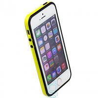 Чехол бампер для iPhone 5 Bampers желто-черный