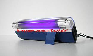 Детектор валют переносной ультрафиолетовый 4W на батарейках 4 АА (Китай)
