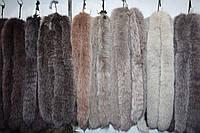 Мех на капюшон пуховика, куртки из хвостиков песца коричневого цвета 70 см, фото 1