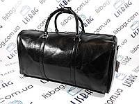 Дорожная сумка черная кожа PU толстая  (54*31*29), фото 1
