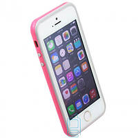 Чехол бампер для iPhone 5 Bampers розово-серый