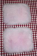 Карманы из песца розовые (цена за пару) 20х15 см