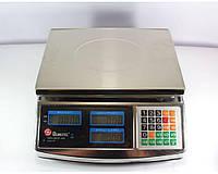 Ваги торговельні Domotec 6V 50kg F902H Металеві, двосторонній дисплей