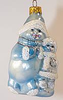 Формовая новогодняя игрушка Снеговик и снегурочка