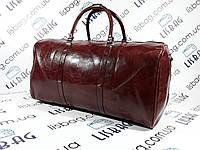 Дорожная сумка темно-Бордовая (2) кожа PU толстая  (54*31*29)