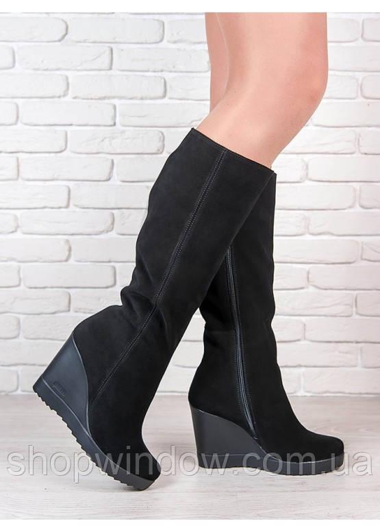 800d0a8f Женская Сапоги на платформе замша. Сапоги из замши. Модные сапоги. Женские  сапоги.