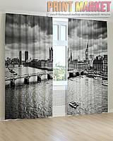 Фото шторы черно-белый Лондон 3д