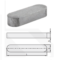Шпонка призматическая (норма DIN 6885 A, норма PN 85005)