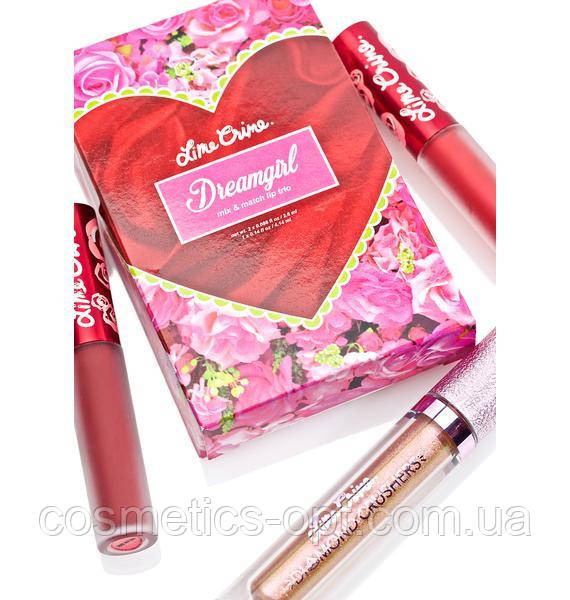 Помада Lime Crime Dreamgirl (3 color) (реплика)