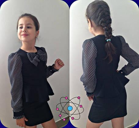 Платье  подростковое  комбинированное , фото 2