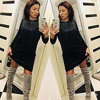 Мини платье - камни мод 436 (НКН)