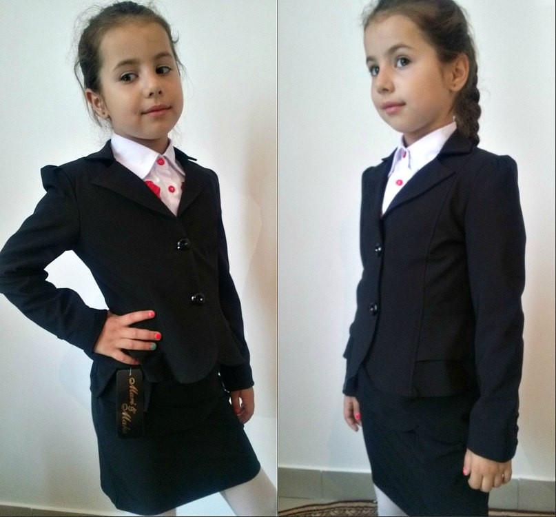 Пиджак школьный  два волана