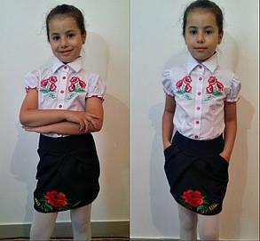 """Школьная юбочка детская """"вышивка""""    , фото 2"""