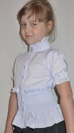"""Блузка для девочки """"резиночка-короткий рукав""""   , фото 2"""