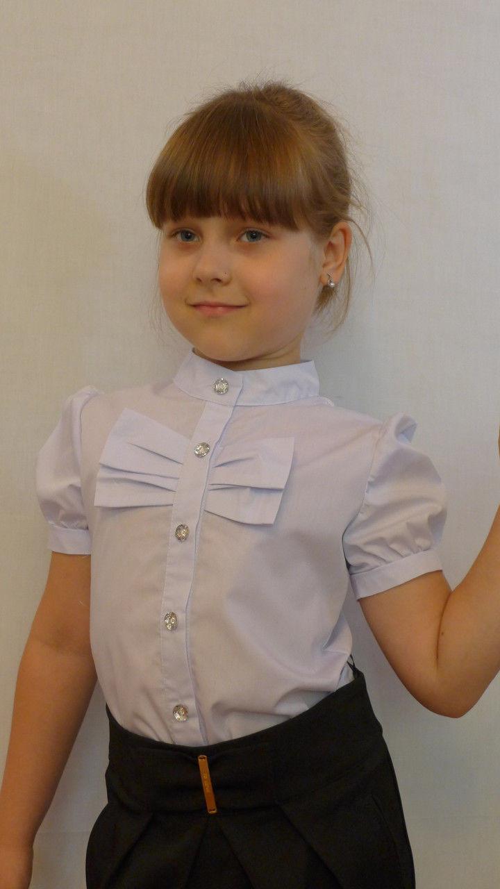 """Блузка для девочки """"бантик"""" (хлопок)"""