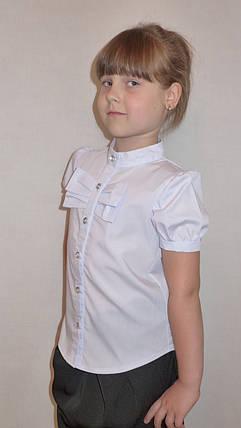 "Блузка для девочки ""бантик"" (хлопок)         , фото 2"