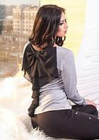 Уникальная женская кофта с бантом на спине