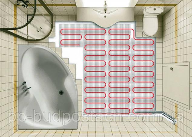 Тепла підлога у ванній кімнаті