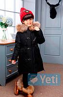 Пуховик для девочек Yeti (YT-510 Black)